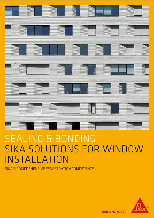 Sika Solutions for Window Installation