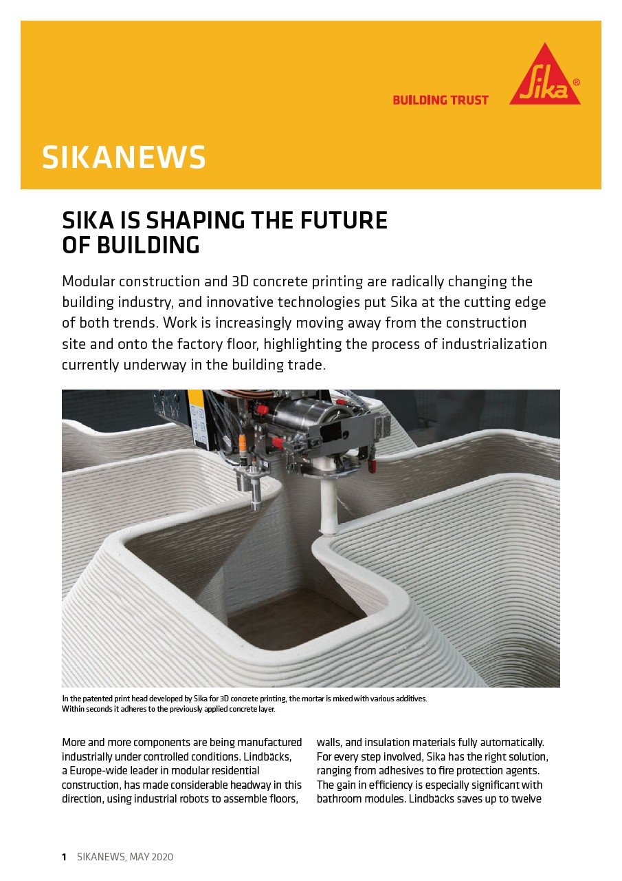 Sika Is Shaping the Future of Building