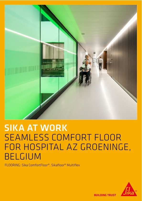 Flooring for Hospital AZ in Groeninge, Belgium