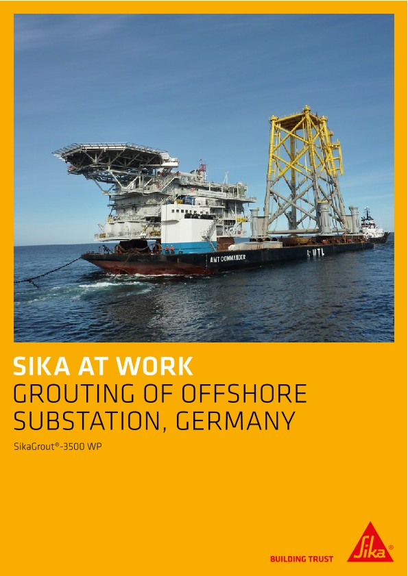 Grouting of Offshore Substation in Germany