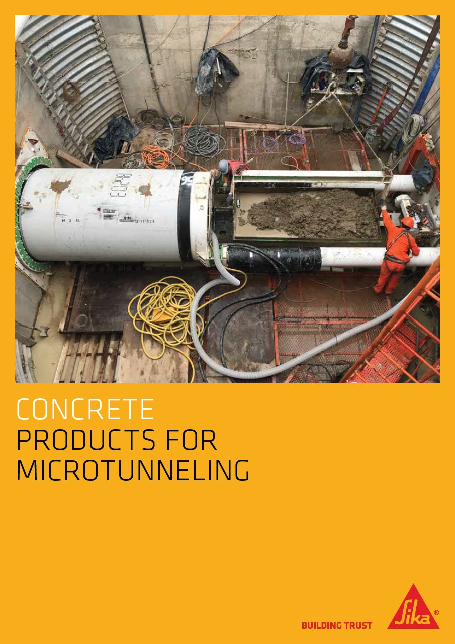 Sika Concrete Products for Microtunneling
