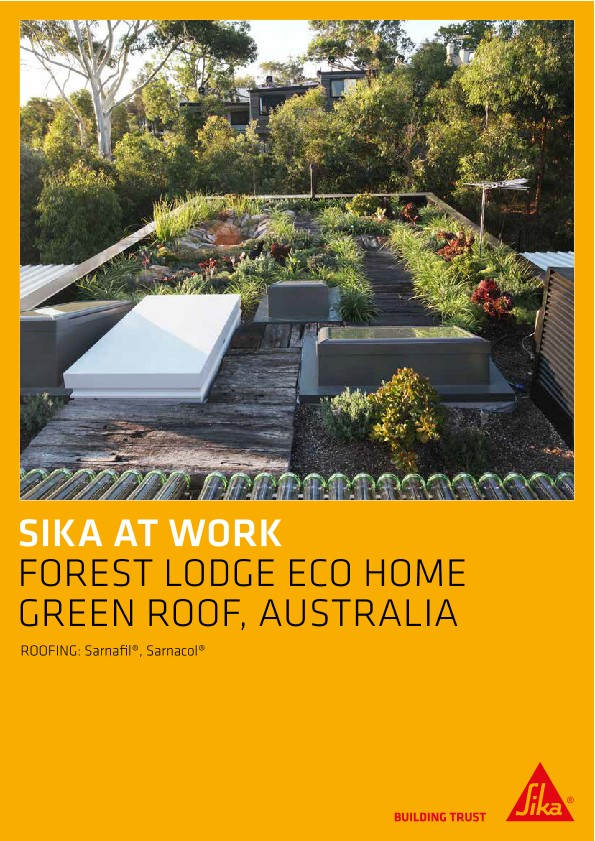 Green Roof for Forest Lodge Eco Home, Australia