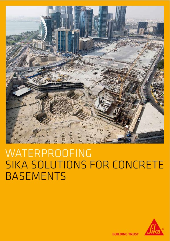 Sika Solutions for Concrete Basements