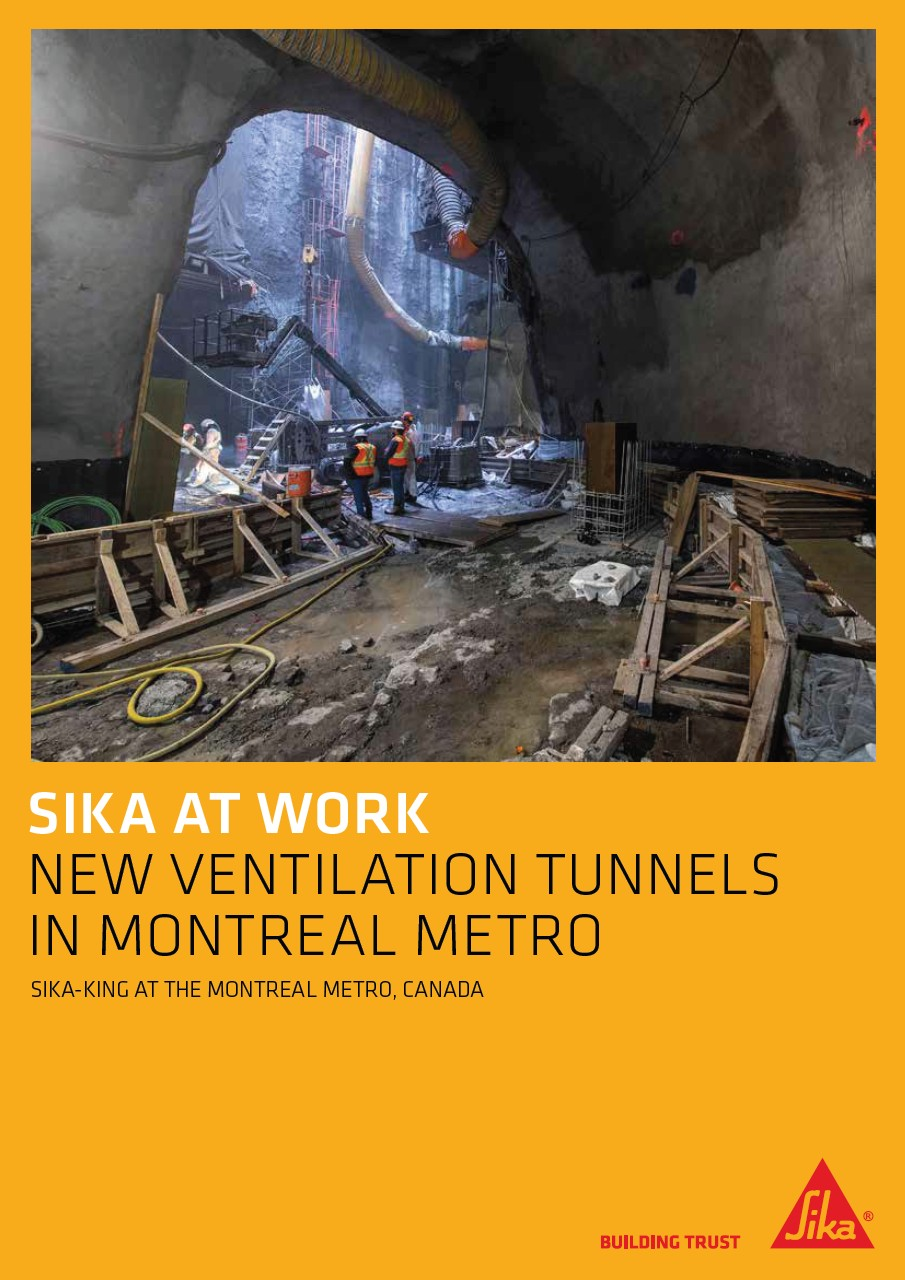 New Ventilation Tunnels in Montreal Metro