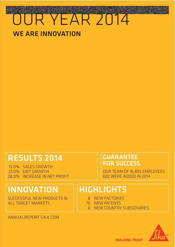 We Are Innovation - Sika Annual Magazine 2014