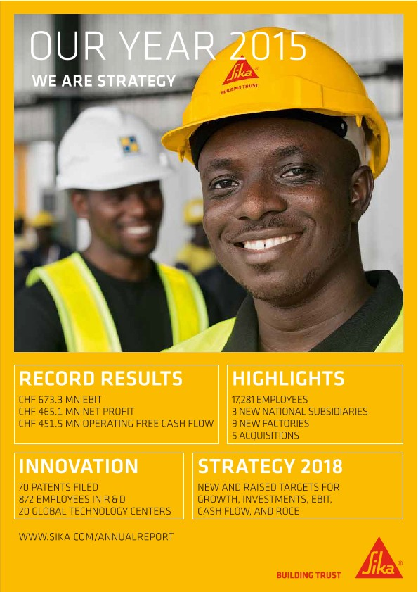 We Are Strategy  - Sika Annual Magazine 2015