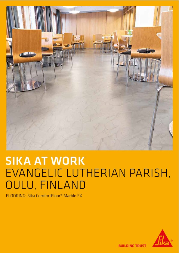 Flooring for Evangelic Lutherian Parish in Oulu, Finland