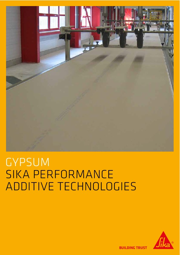 Gypsum - Sika Performance Additive Technologies