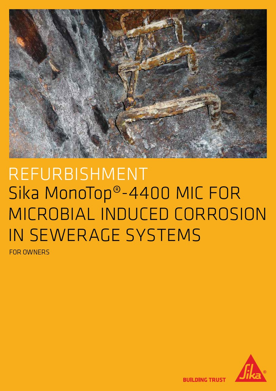 Sika MonoTop® - 4400 MIC for Microbial Induced Corrosion in Sewerage Systems