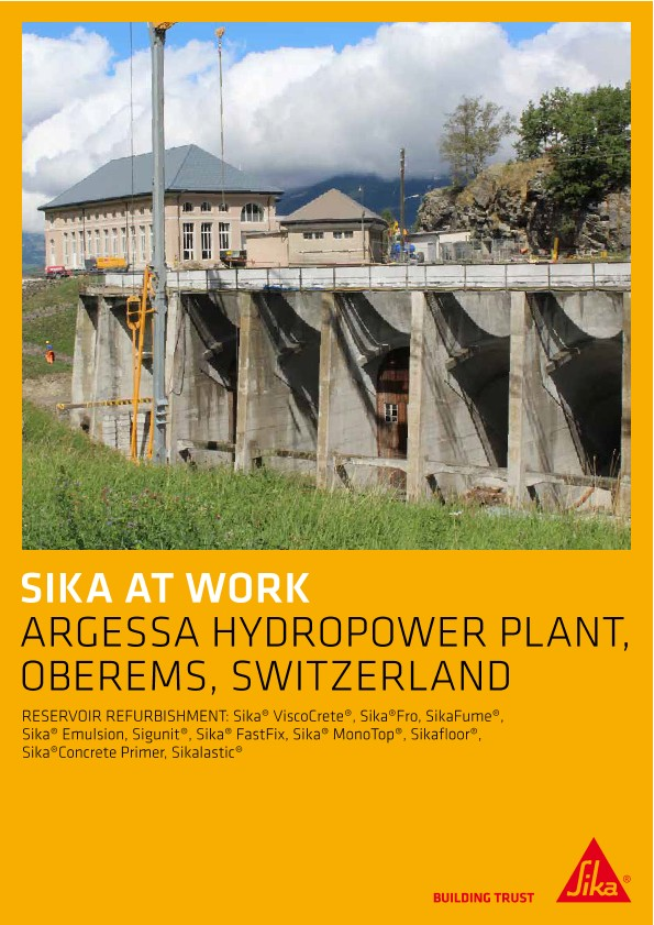 Agressa Hydropower Plant in Oberems, Switzerland