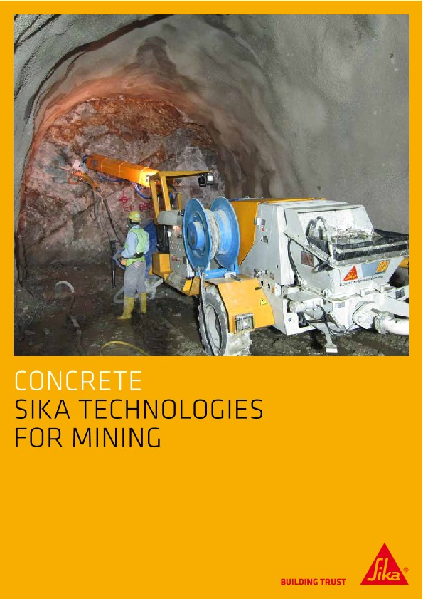 Concrete - Sika Technologies for Mining