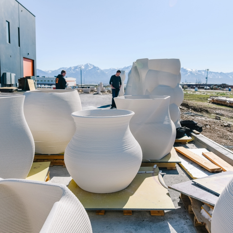 Sika's 3D concrete printing technology allows complex geometries to be realized economically