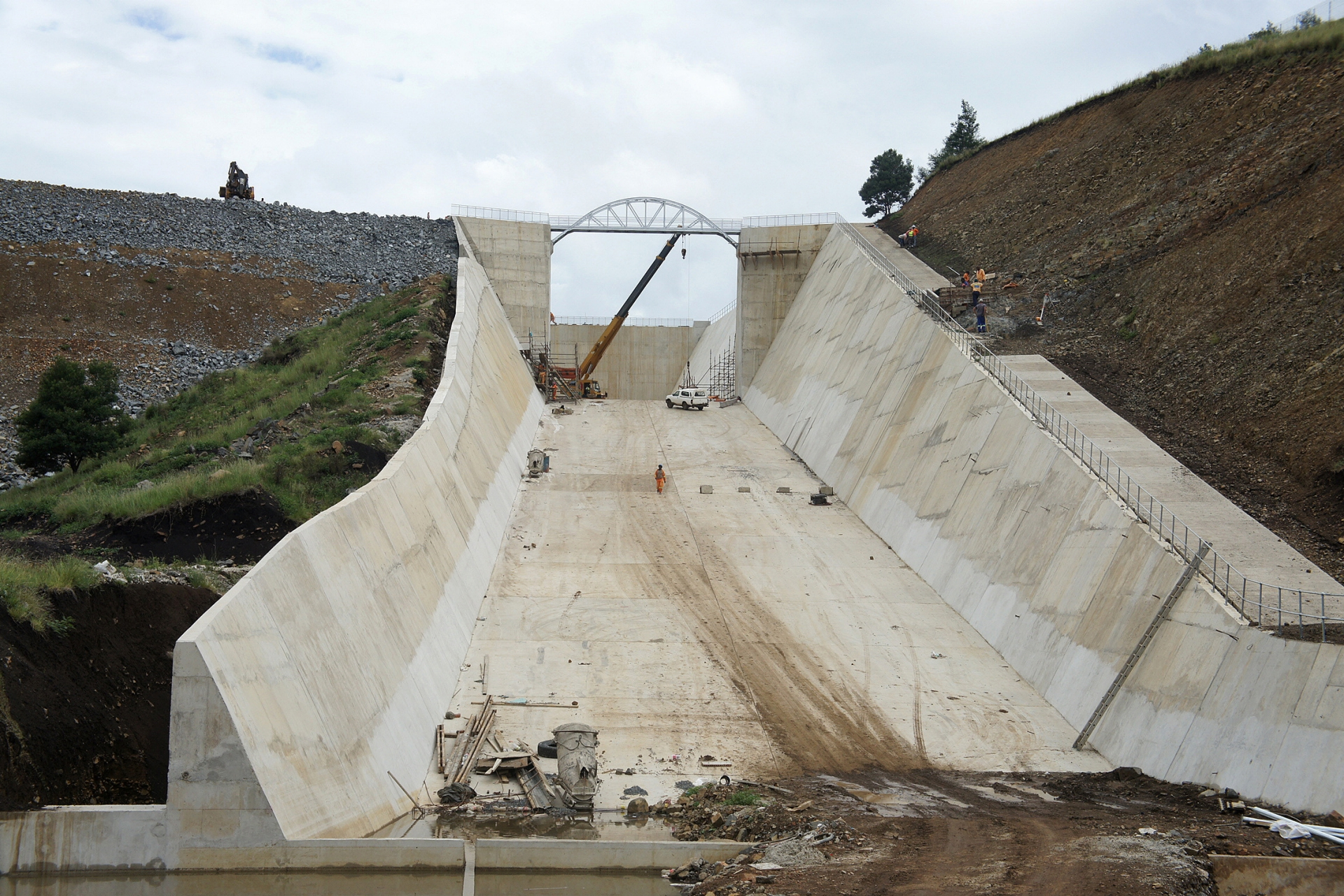 Concrete structure of Ludeke Dam in South Africa