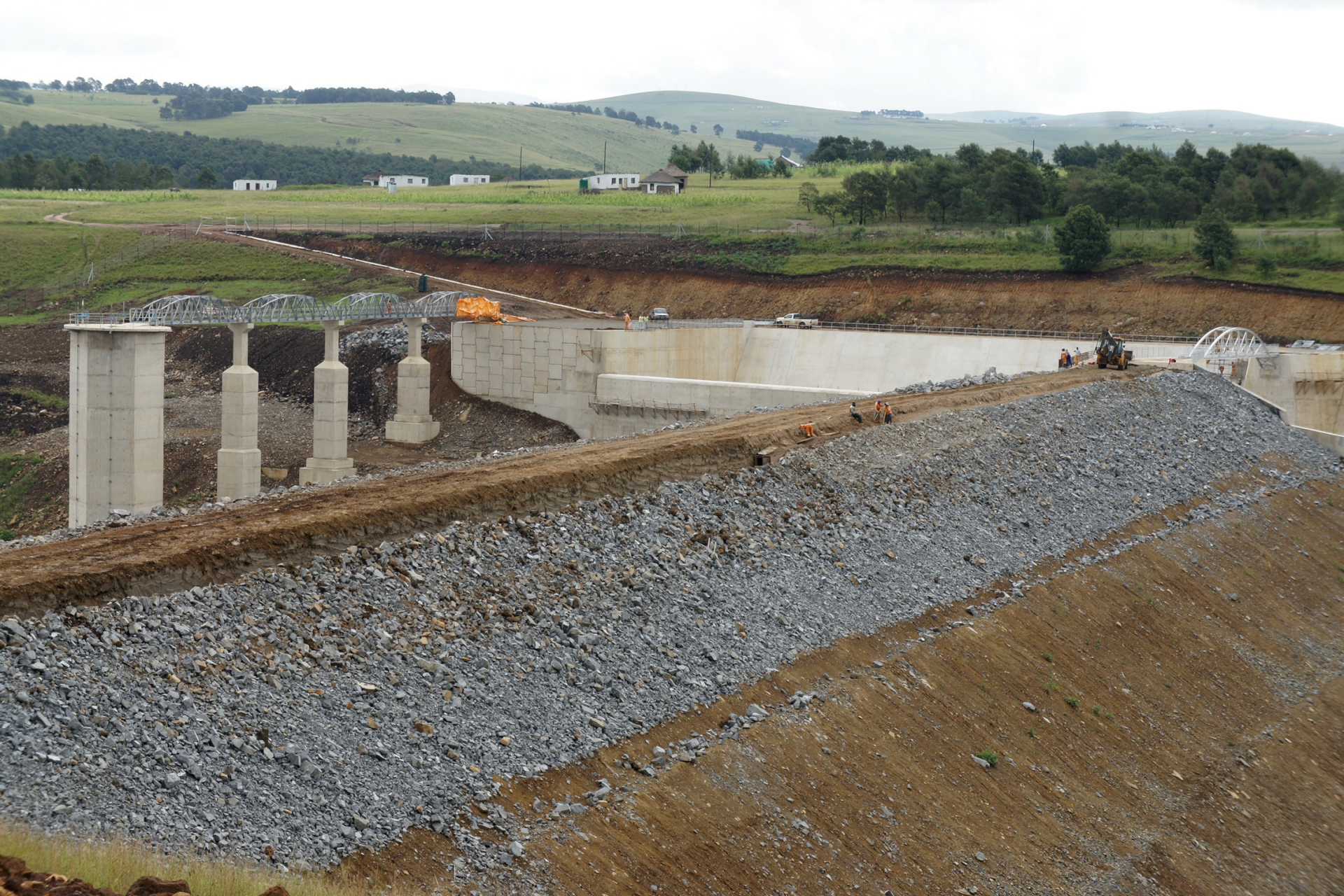 Construction of Ludeke Dam in South Africa
