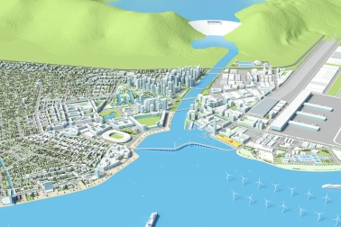 Rendered illustration of the Sika Smart City for all construction projects